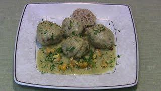 Klopsiki z mięsa mielonego z kurkami w sosie śmietanowo - kurkowym
