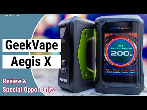 YouTube Video zu Geekvape Aegis X Akkuträger 200 Watt