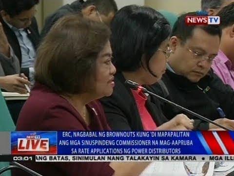 NTVL: ERC, nagbabala ng brownouts kung 'di mapapalitan ang mga sinuspindeng Commissioner