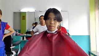 School Girl Barbershop Boy Cut ✂️💈