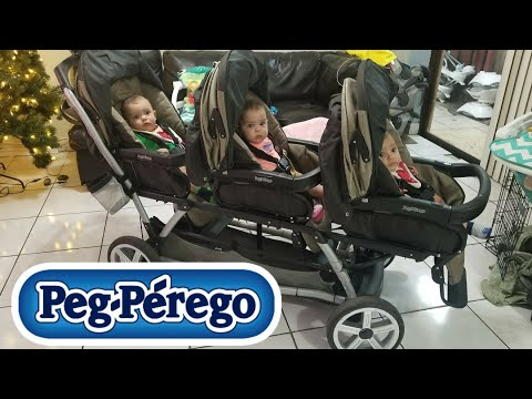 YAY WE GOT A NEW STROLLER! | PEG PEREGO TRIPLETTE STROLLER.