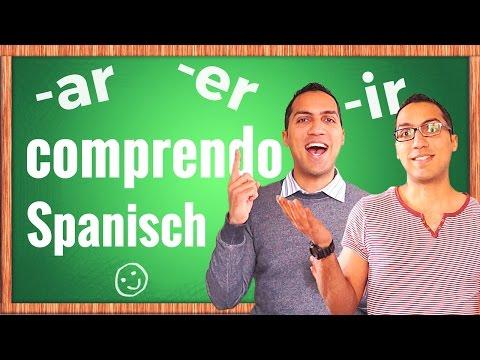 Spanische Verben schnell und einfach konjugieren...  AR,  ER,  IR