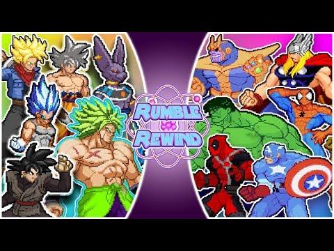 DRAGON BALL SUPER vs AVENGERS! (Vegeta, Goku, Broly vs Hulk, Thanos & More) | RUMBLE REWIND