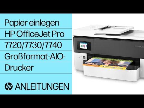 Papier einlegen | HP OfficeJet Pro 7720/7730/7740 Großformat-AIO-Drucker | HP