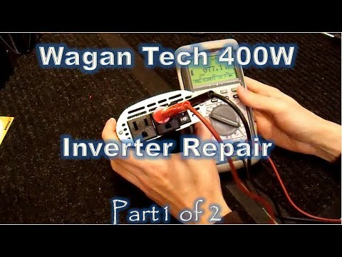 Inverter Repair - Wagan Tech 400w/1000w Inverter How To  part1