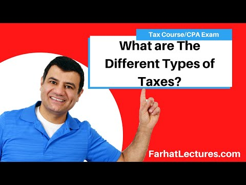 Different Types of Taxes   Income Tax Course   CPA Exam ...