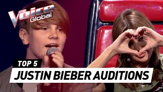 BEST JUSTIN BIEBER BLIND AUDITIONS in The Voice and The Voice Kids [PART 3]