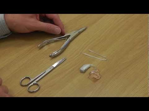 HOW TO change the tube on a (BTE) behind the ear hearing aid