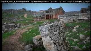preview picture of video 'Idlib - Serjilla Familles vivent dans des monuments ancients  سرجيلا عائلات تعيش في مباني قديمة'