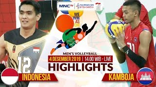 INDONESIA VS KAMBOJA (3-0) | Highlights Men's Volleyball | SEA GAMES 2019