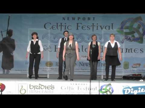 Maldon Meehan Dancers | Danced A cappella Jigs for LIVE audience at 2011 Newport Celtic Festival