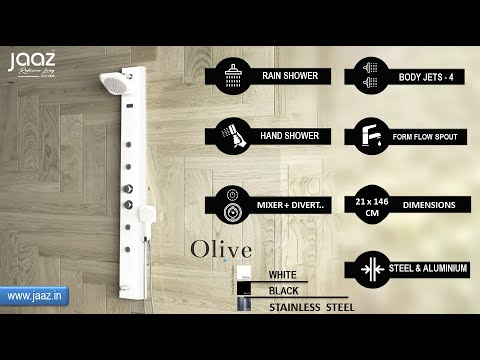 Olive Black Shower Panel
