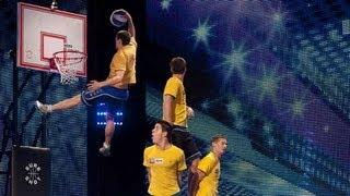 Face Team basketball acrobatics - Britain