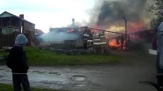 Пожар 14. 06 .18 в посёлке Черноисточинске