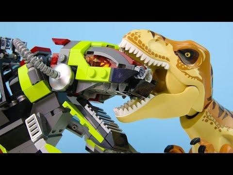 LEGO Jurassic World STOP MOTION LEGO Jurassic World: T-Rex vs Dino Mech | LEGO | Billy Bricks