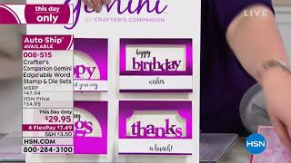 HSN | Crafter's Companion 01.08.2019 - 01 AM