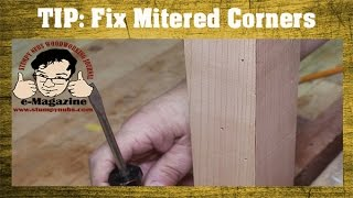 Woodworking Quick Tip 16 A Fast Fix For Mitered Corners