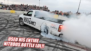 """Here's our first ever attempt at a """"pro"""" burnout contest. We think it went awesome. It's surely a great start. Can't wait to take it to the next level!  Cleetus Merch!!! - https://www.cleetusmcfarland.com Our 2020 Sponsors:  https://www.holley.com https://texas-speed.com https://www.motionraceworks.com https://www.nittotire.com  Check out our schedule for 2020 here - https://www.cleetusmcfarland.com/year2020/ Cleetus2 Channel - https://goo.gl/Ph2wyo Holley's channel - https://www.youtube.com/channel/UCeQfJXzg0gnfuM4tgmagCCw **Social Media: Instagram - https://goo.gl/LZvy5e Facebook - https://goo.gl/gdwhh1  **SEND ME FAN MAIL... (bald eagles welcome)  Cleetus McFarland 12961 44th St N. Ste B Clearwater, FL 33762 United States of America"""