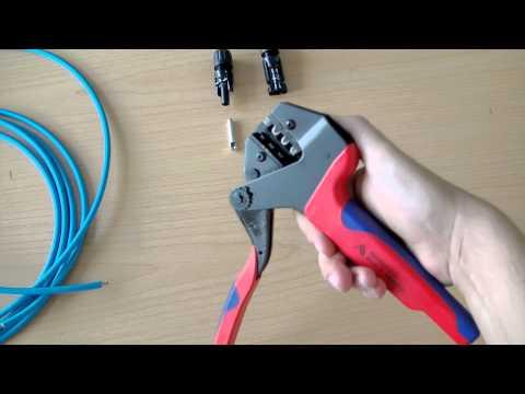 Как правильно обжимать разъемы типа МС4 на кабель