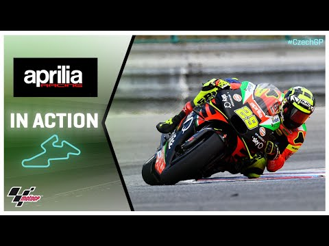 Aprilia in action: Monster Energy Grand Prix České republiky