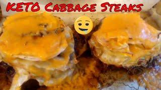 Cheesy KETO Cabbage Steak
