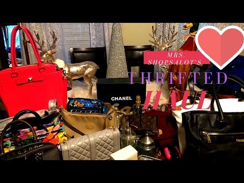 e2ec70b009a8 Huge Designer Thrift Haul Chanel Louis Vuitton Cole Haan Kate Spade play