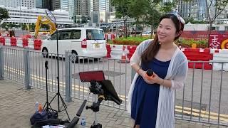 香港小小雪❄🎤(3)《你怎麼捨得我難過+昨天今天下雨天+錯過了緣份錯過你+心淡+偶遇+Ocean Deep》@中環碼頭摩天輪後面(20/6/2020)
