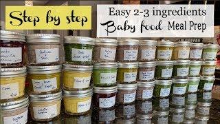 Step By Step Babyfood Meal Prep || 2-3 Ingredients Baby Food Diy