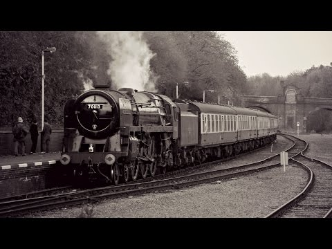 70013 'Oliver Cromwell' from the footplate on the Great Cent…