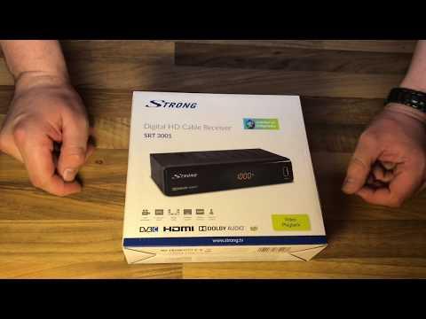 STRONG SRT 3001 HDTV Receiver für digitale Free-To-Air TV via Kabel unboxing und Anleitung