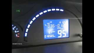 """Чери Бит ( Индис ) + Видеорегистратор К 6000 """" расход топлива при 90 км.ч"""