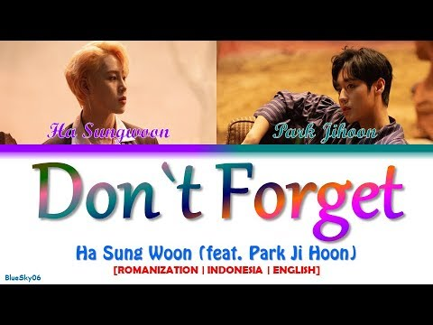 Ha Sung Woon - 잊지마요 (Don`t Forget) (feat. Park Ji Hoon) LYRICS [Color Coded SUB ROM/INDO/ENG]