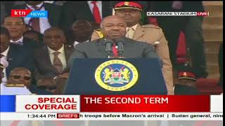 Gabon President, Ali Bongo's speech during Uhuru's inauguration ceremony