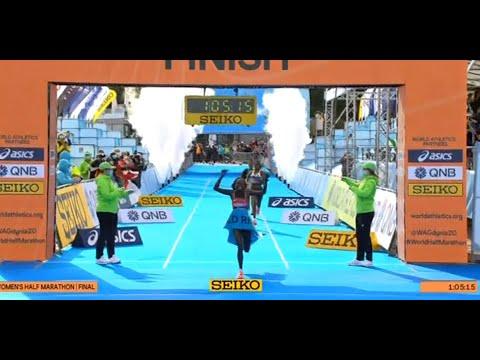 Peres Jepchirchir wins World Half Marathon Championships title