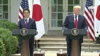 President Trump, Prime Minister Abe Of Japan Joint Press Conference.