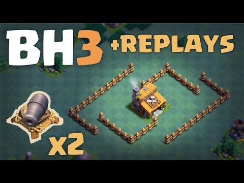 Builder Hall 3 | 2 Canons | BH3 Trophy Base | + Replays | Clash Of Clans | 2017 Update Mp3