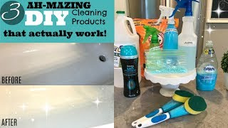 3 AMAZING DIY CLEANERS AND AIR FRESHENERS + Speed Cleaning My Bathroom