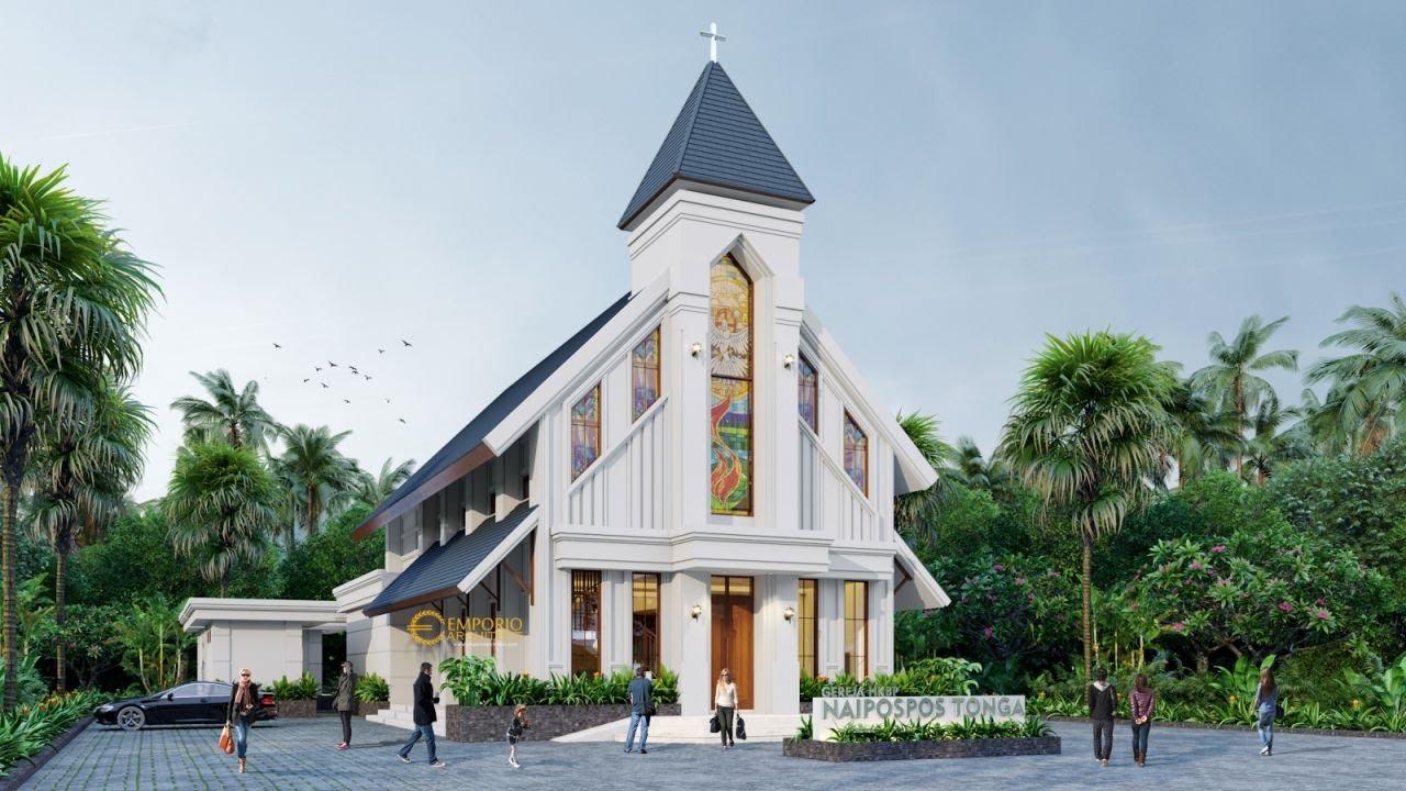 Video 3D Desain Gereja Naipospos Tonga Classic 2 Lantai  di Tapanuli, Sumatera Utara