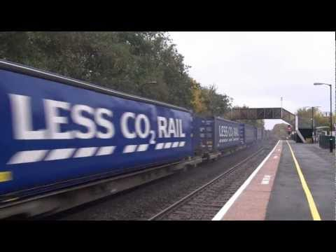 Clouds of brake dust as DRS 66427 storms down the Lickey Inc…
