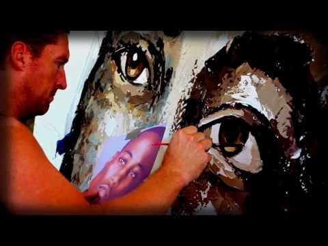 PETER TERRIN : UNIQUE STYLE : PORTRAIT ART : TIME LAPSE