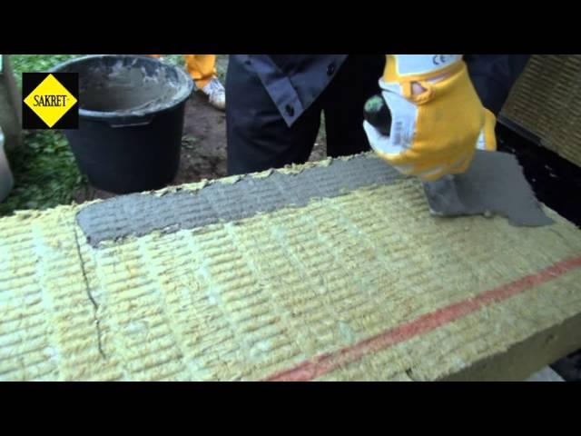 Ēku siltināšana – 3. Siltumizolācijas materiāla līmēšana ar SAKRET līmjavu BK.