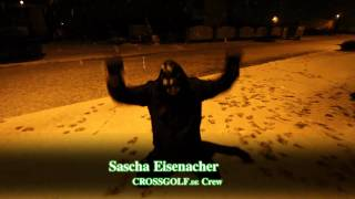 preview picture of video 'Nacht Crossgolf Session im Schnee'