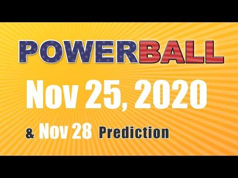 Winning numbers prediction for 2020-11-28|U.S. Powerball