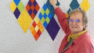 Quilting Tips & Techniques 261 - How to cut and make a 9-patch  60 degree diamond shape.