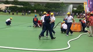 愛川町消防団2018神奈川県消防操法大会小型ポンプ操法の部