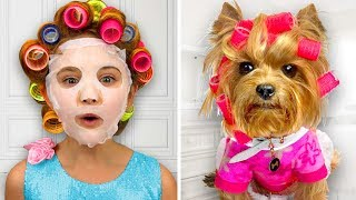 Sasha Make up her Dog and wants go to The Disco