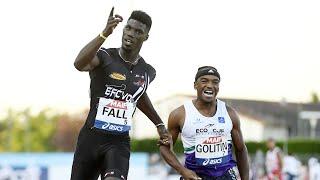 Albi 2020 : Finale 100 m M (Mouhamadou Fall en 10''16)