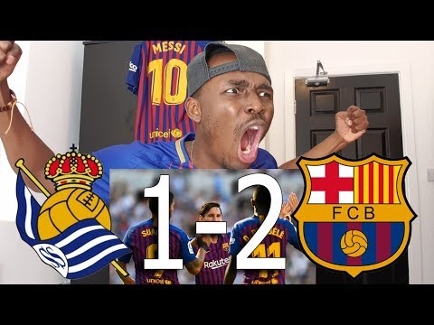 Barcelona Fan Reacts To Real Sociedad vs FC Barcelona 1-2