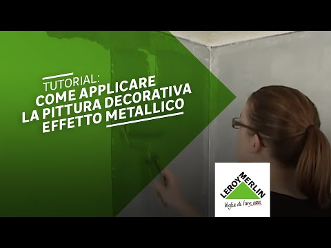 Come applicare la pittura decorativa Stile Metal - Leroy Merlin
