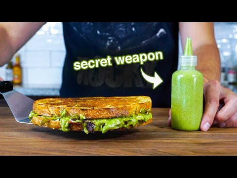 Dude Makes Crazy Grilled Cheese Sandwhich